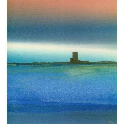 Robert Tilling RI watercolour 'Seymour Tower, Jersey'