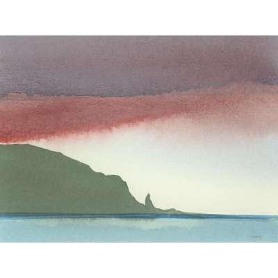 Robert Tilling RI watercolour 'Plemont, Jersey'