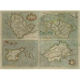 Gerardus Mercator Map of the Channel Islands C.1620