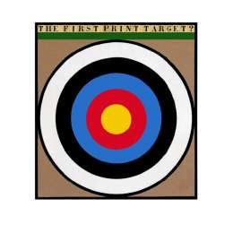 "Sir Peter Blake 22 colour screenprint ""The First Print Target"""