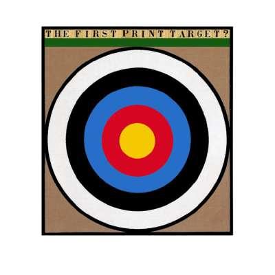 "Sir Peter Blake 22 colour screenprint ""The First Print Target"""