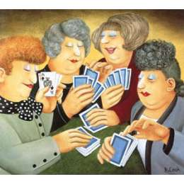 Beryl Cook colour reproduction giclée print 'A Full House'