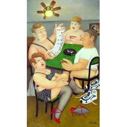 Beryl Cook colour reproduction giclée print 'Strip Poker'