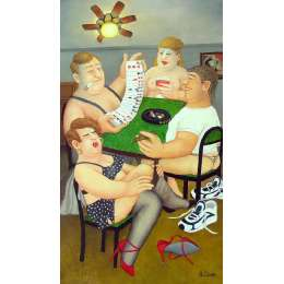 Beryl Cook colour reproduction giclée print 'Strip Poker'