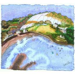 Ian Rolls limited edition giclee print 'St Catherines Bay'