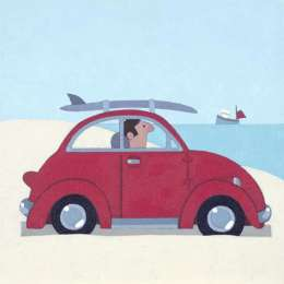 Sasha Harding limited edition giclee 'The Red VW'