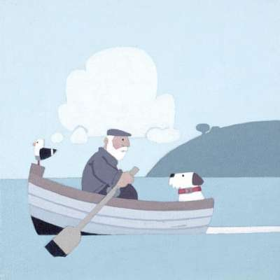 "Sasha Harding limited edition giclee ""Row Your Boat"""