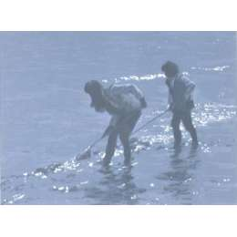 "Norman Hepple silkscreen ""Shrimpers"""
