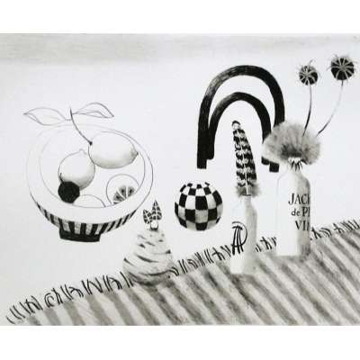 Mary Fedden RA limited edition Lithograph Still Life with Chair