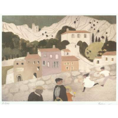 Mary Fedden RA signed Lithograph 'Oppede Le Vieux'