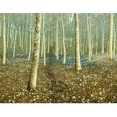 "Kenneth Leech screenprint ""Bluebell Wood"""
