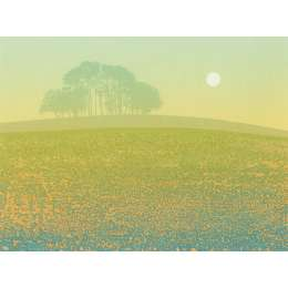 "Kenneth Leech screenprint ""Hill Top"""