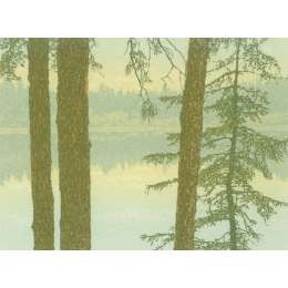 "Kenneth Leech screenprint ""Cedar Lake"""