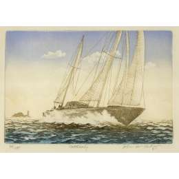 "John McNulty limited edition etching ""Northerly"""