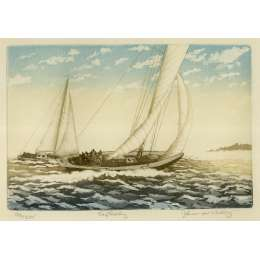 "John McNulty limited edition etching ""Easterly"""