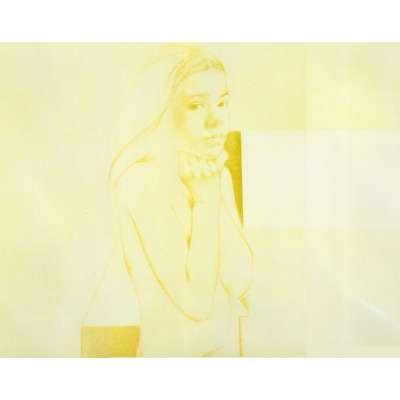 Graham Ovenden etching 'Lolita Perturbed'