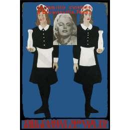 Sir Peter Blake screenprint with glazes 'Milk Maids'