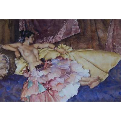 Sir William Russell Flint print 'Model for Elegance'