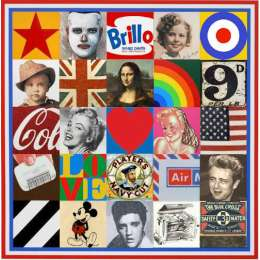 Sir Peter Blake screenprint Some of the Sources of Pop Art VII
