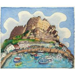 Ian Rolls limited edition giclee print 'Castle & Harbour, Gorey'