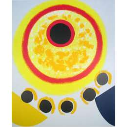 Sir Terry Frost screenprint 'Five Black Moons'
