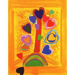 Sir Terry Frost screenprint 'Yellow Love Tree'