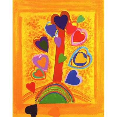 Sir Terry Frost screenprint 'Yellow Love Tree'