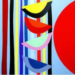 Sir Terry Frost screenprint 'Vertical Rhythm II'