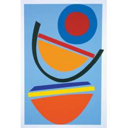 Sir Terry Frost screenprint 'Swing blue'
