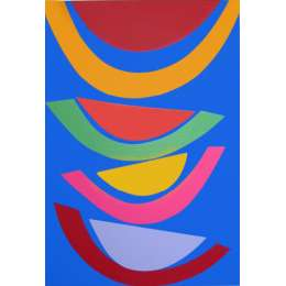 Sir Terry Frost screenprint 'Swing on Blue'