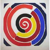 Sir Terry Frost screenprint 'Spring Spiral'