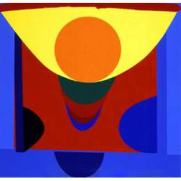 Sir Terry Frost screenprint 'Malaga Blue and Orange'