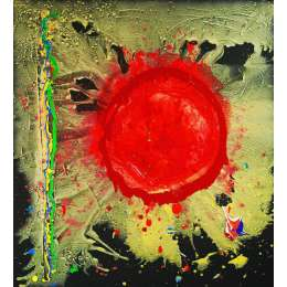 John Hoyland RA limited edition silkscreen 'Warrior Universe'