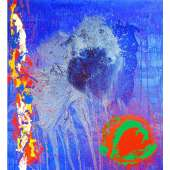 John Hoyland RA limited edition silkscreen 'Life and Love'