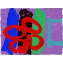 Albert Irvin RA signed limited edition screen print 'Louise II'