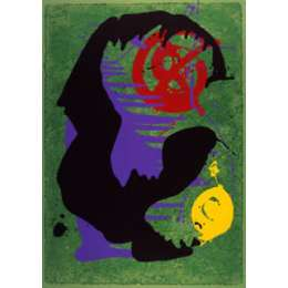John Hoyland RA limited edition silkscreen 'Space Borne'