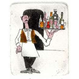 Graham Clarke handmade etching 'Plonks'