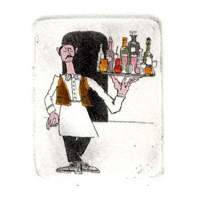 Graham Clarke handmade etching 'Plonks'